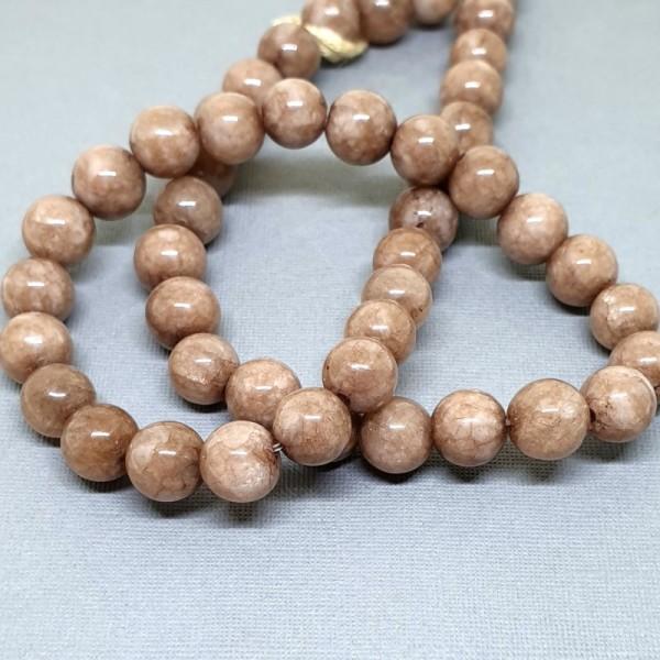 Round Smoky Jade beads 8mm on 38-40cm string