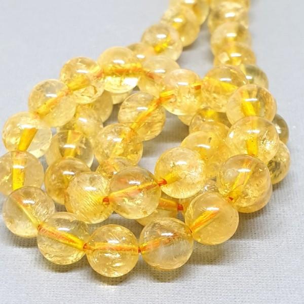 Natural Citrine grade AB+ 8mm beads on 38-40cm string