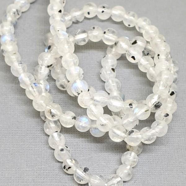 Natural Moonstone grade AB+ 4mm beads on 38-40cm string