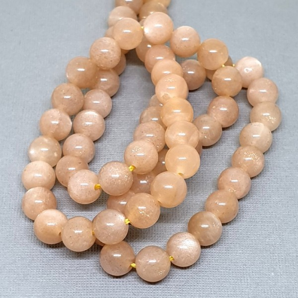 Natural Sun stone grade AB+ 6mm beads on 38-40cm string
