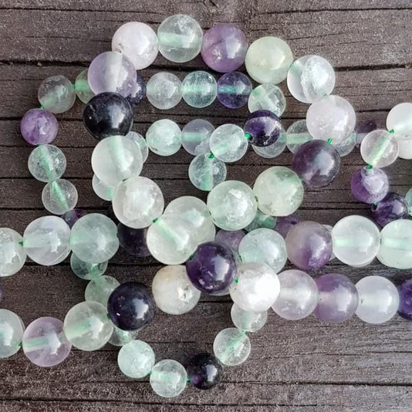 Natural Fluorite beads 6mm on 38-40cm string