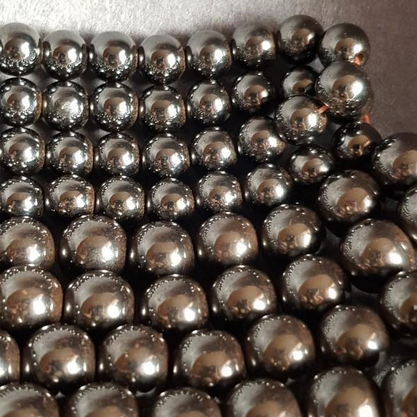 Hematite beads 10mm 38-40cm strand