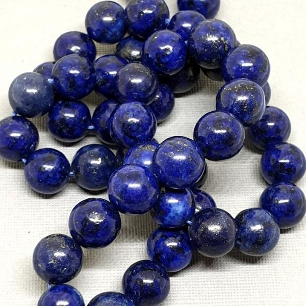 Natural round Lapis Lazuli beads 6mm on 38-40cm string