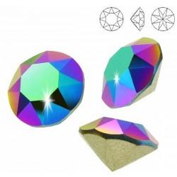 SWAROVSKI 1088 Xirius Chaton 8mm Crystal Scarabaeus Green F (x1)