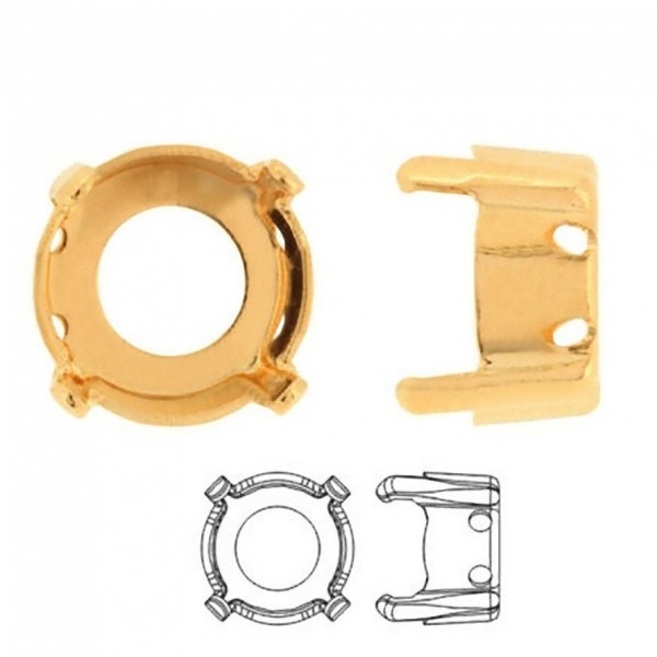 Original 1088 ss39 Metal Setting for SWAROVSKI Xirius Chatons, gold pltd (x1)