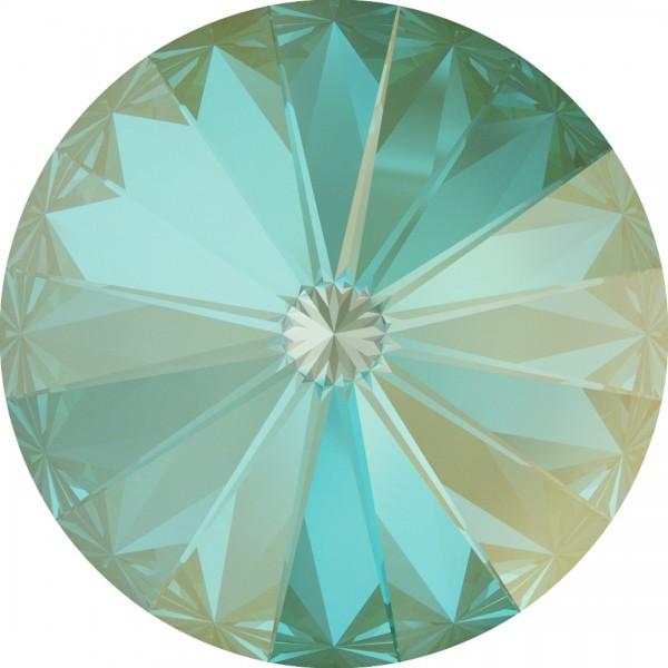 SWAROVSKI 1122 Rivoli 12mm Crystal Silky Sage DeLite (001 L147D) (x1)
