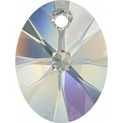 SWAROVSKI 6028 Xilion Oval pendant 18mm Crystal Vitrail Light (x1)