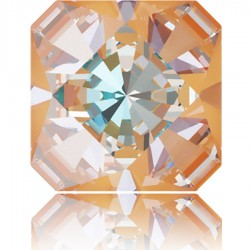 4499 Kaleidoscope Square Fancy Stone 14mm Crystal Peach DeLite (x1)