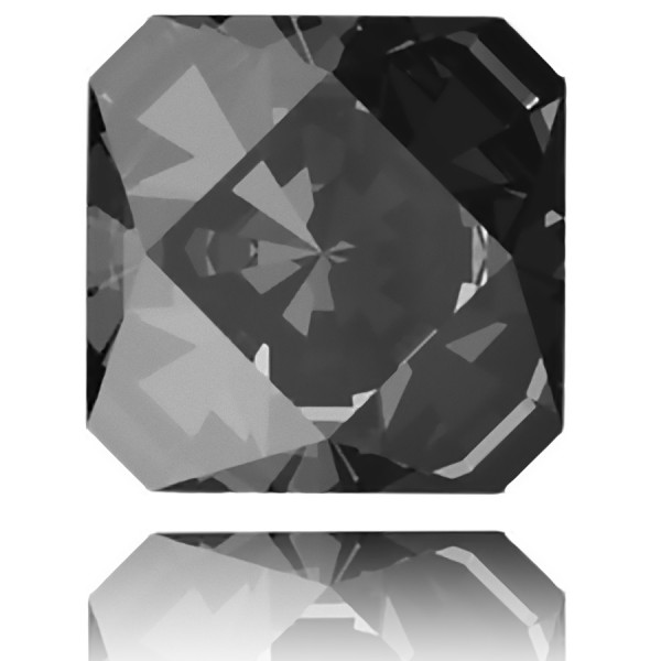 4499 Kaleidoscope Square Fancy Stone 20mm Crystal Silver Night unfoiled (x1)