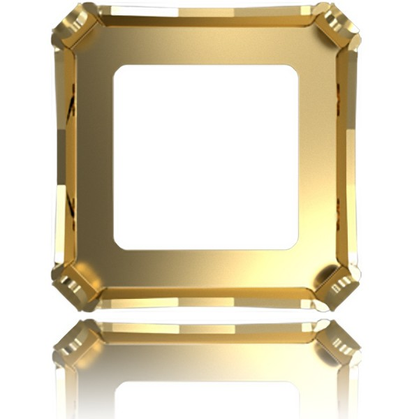 4499 20x20mm Metal Setting for SWAROVSKI Kaleidoscope Square fancy Stones, gold pltd (x1)