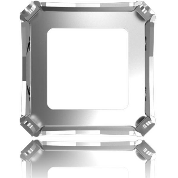 4499 20x20mm Metal Setting for SWAROVSKI Kaleidoscope Square Stones, rhodium pltd (x1)