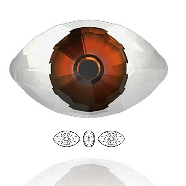 4775 Eye Fancy Stone 18x10,5mm Crystal (001) CAL V SI MD292 F (x1)