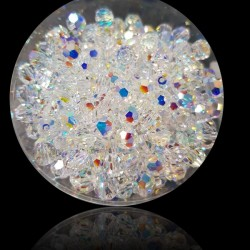 SWAROVSKI® 5000 Faceted Round Beads 6mm Crystal (001) Aurore Boreale (AB) (x1)
