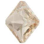 SWAROVSKI 6431 Princess Cut Pendant 16mm Crystal (001) Golden Shadow (GSHA) (x1)