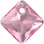 SWAROVSKI 6431 Princess Cut Pendant 16mm Rose (209) (x1)