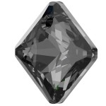 SWAROVSKI 6431 Princess Cut Pendant 16mm Crystal (001) Silver Night (SINI) (x1)