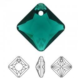 SWAROVSKI 6431 Princess Cut Pendant 16mm Emerald (205) (x1)
