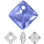 SWAROVSKI 6431 Princess Cut Pendant 16mm Sapphire (206) (x1)