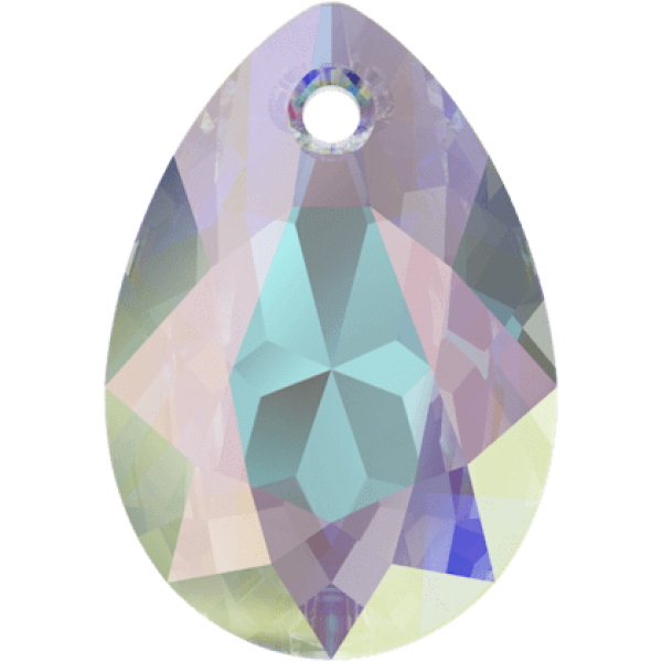 SWAROVSKI 6433 Pear Cut Pendant 16mm Crystal (001) Aurore Boreale (AB) (x1)