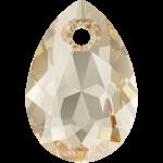 SWAROVSKI 6433 Pear Cut Pendant 11.5 mm Crystal (001) Golden Shadow (GSHA) (x1)
