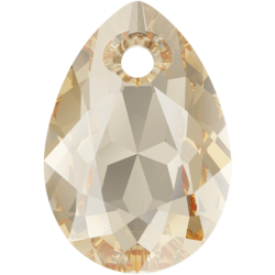 SWAROVSKI 6433 Pear Cut Pendant 11.5 mm Crystal (001) Golden Shadow (GSHA) (x1)