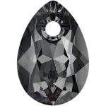 SWAROVSKI 6433 Pear Cut Pendant 11.5 mm Crystal (001) Silver Night (SINI) (x1)