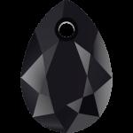 SWAROVSKI 6433 Pear Cut Pendant 16mm Jet (280) (x1)