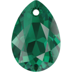 SWAROVSKI 6433 Pear Cut Pendant 16mm Emerald (205) (x1)