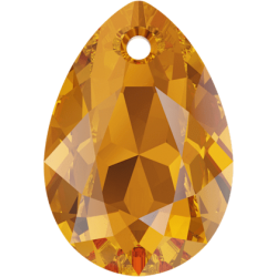 SWAROVSKI 6433 Pear Cut Pendant 11.5 mm Topaz (203) (x1)