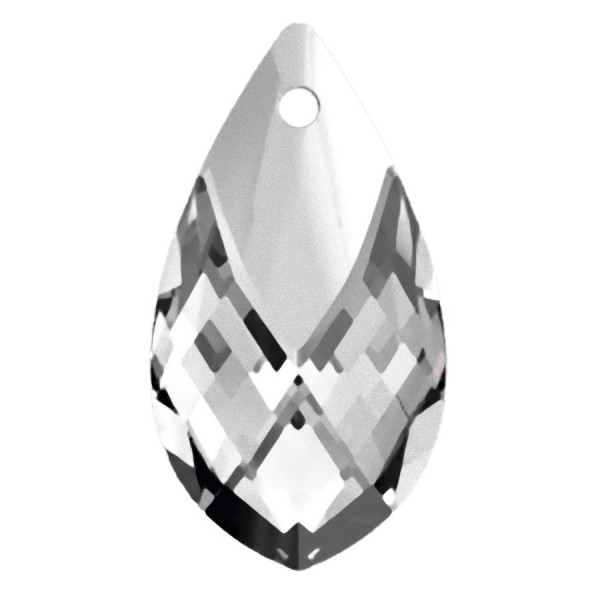 SWAROVSKI 6565 Metallic Cap Pendant 18mm Crystal Light Chrome (x1)