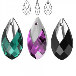 6565 Metallic Cap Pear-shaped Pendant