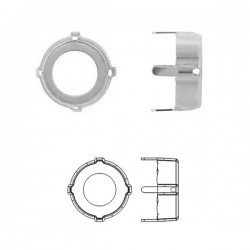 16mm Metal Setting for SWAROVSKI 1122 Rivoli, rhodium pltd (x1)