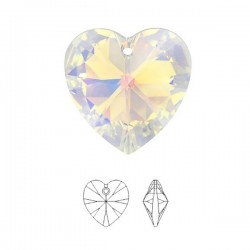 SWAROVSKI® 6228 Heart Pendant 14.4x14mm Crystal AB (x1)