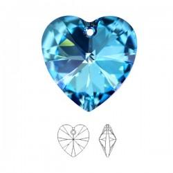 SWAROVSKI® 6228 Heart Pendant 14.4x14mm Crystal Bermuda Blue (x1)
