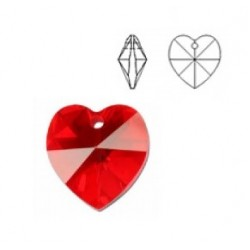 SWAROVSKI 6202 Heart Pendant 18x17.5mm Light Siam (x1)