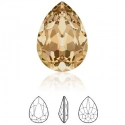SWAROVSKI 4320 Pear Fancy Stone 14x10mm Crystal Golden Shadow F (x1)