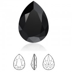 SWAROVSKI 4320 Pear Fancy Stone 14x10mm Jet (x1)
