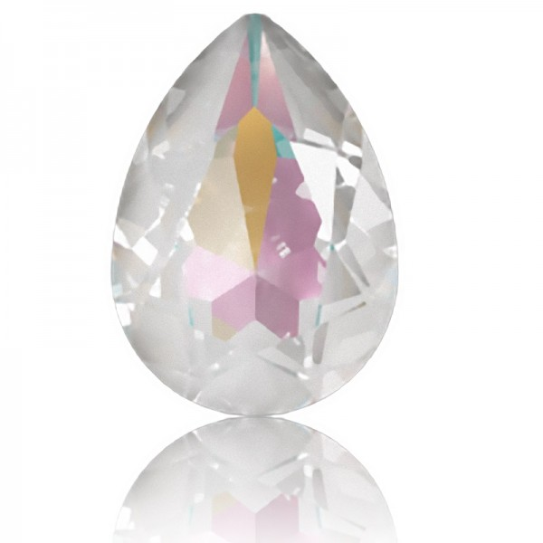 SWAROVSKI 4320 Pear Fancy Stone 14x10mm Crystal Light Grey DeLite (001 L129D) (x1)