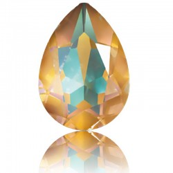 SWAROVSKI 4320 Pear Fancy Stone 14x10mm Crystal Ochre DeLite (001 L131D) (x1)