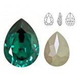 SWAROVSKI 4320 Pear Fancy Stone 10x14mm Emerald F (x1)
