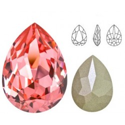 SWAROVSKI 4320 Pear Fancy Stone 18x13mm Rose Peach F (x1)