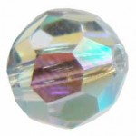 SWAROVSKI® 5000 Faceted Round Beads 8mm Crystal (001) Aurore Boreale (AB) (x1)