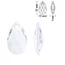 SWAROVSKI 6106 Pear Shape Pendant 22mm Crystal (x1)