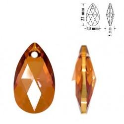 SWAROVSKI 6106 Pear Shape Pendant 22mm Crystal Copper (x1)