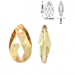 SWAROVSKI 6106 Pear Shape Pendant 22mm Crystal Golden Shadow (x1)