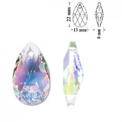 SWAROVSKI 6106 Pear Shape Pendant 22mm Crystal AB (x1)