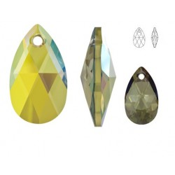 SWAROVSKI 6106 Pear Shape Pendant 22mm Crystal Iridescent Green (x1)
