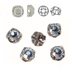 Crystal F ss16 Silver Brushed SWAROVSKI 53102 Rose Montees (x10)