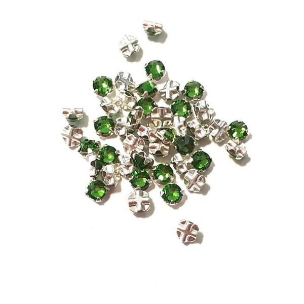 Fern Green F ss12 SWAROVSKI 53100 Rose Montees Silver Brushed (x10)