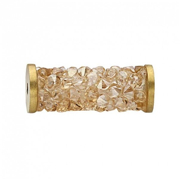 SWAROVSKI 5950 Fine Rocks Tube 15mm 001GSHA Gold (x1)